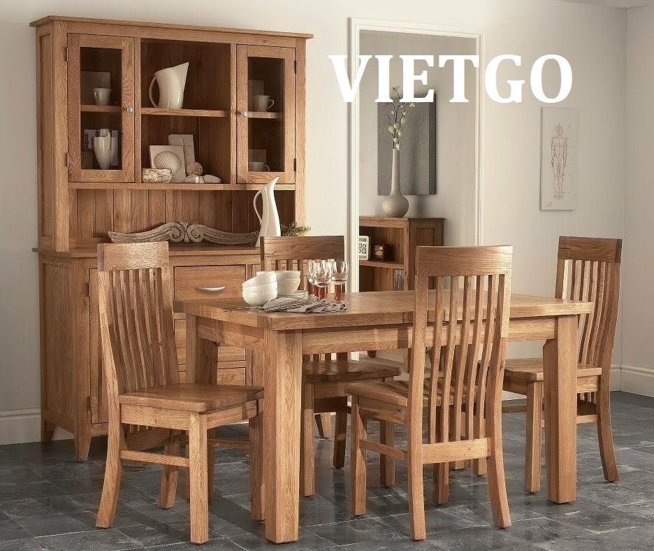 Cơ hội xuất khẩu 100 bộ bàn ghế gỗ sang Đức