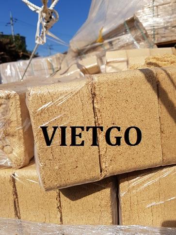 Cơ hội xuất khẩu 10 container 20ft mùn cưa nén dạng bánh mỗi tháng sang Hàn Quốc