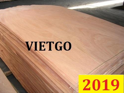 Cơ hội giao thương Đặc Biệt – Đơn hàng thường xuyên -  Cơ hội xuất khẩu Ván bóc mặt gỗ dầu sang thị trường Ấn Độ
