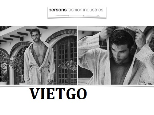 Cơ hội giao thương Đặc biệt - Thương nhân người Hà Lan cần nhập khẩu áo choàng tắm từ thị trường Việt Nam