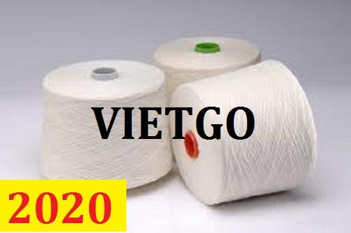 Cơ hội giao thương - Đơn hàng thường xuyên – Thương nhân đến từ Tây Ban Nha cần nhập khẩu Sợi dệt từ Việt Nam