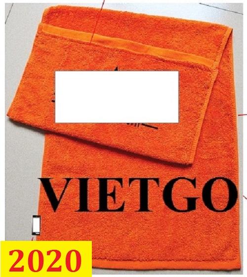 Cơ hội giao thương- Đơn hàng thường xuyên - Thương nhân đến từ Ý cần nhập khẩu khăn bông từ Việt Nam
