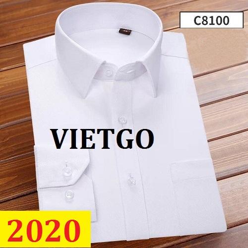 Cơ hội giao thương– Đơn hàng thường xuyên - Thương nhân đến từ Mỹ cần nhập khẩu áo sơ mi từ Việt Nam