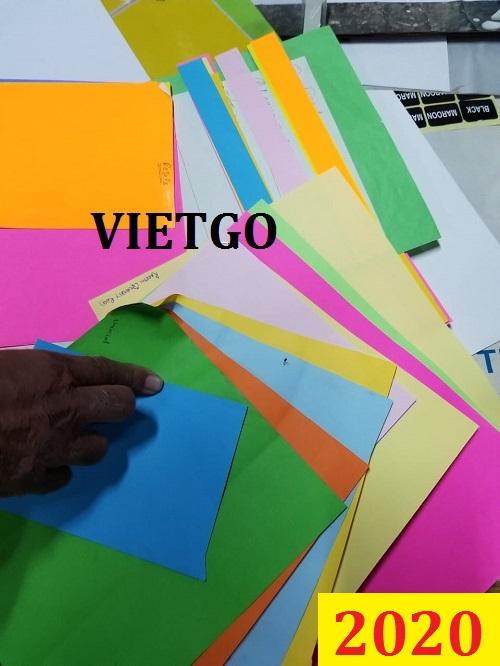 Cơ hội giao thương đặc biệt – Đơn hàng thường xuyên - Thương nhân đến từ Pakistan cần nhập khẩu giấy màu từ thị trường Việt Nam