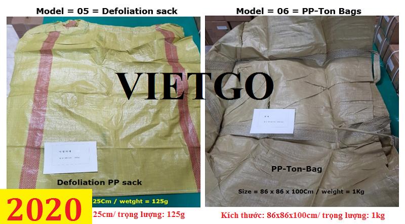 Cơ hội giao thương– Đơn hàng thường xuyên - Thương nhân đến từ Hàn Quốc cần nhập khẩu túi dệt PP từ Việt Nam