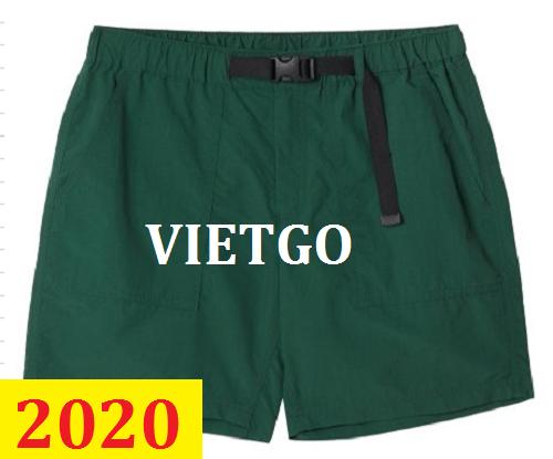 Cơ hội giao thương– Đơn hàng thường xuyên - Thương nhân đến từ Hàn Quốc cần nhập khẩu quần Short sắp có chuyến công tác đến Hà Nội