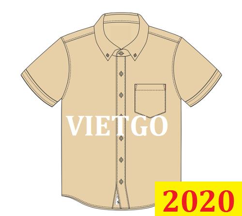 Cơ hội giao thương Đặc Biệt – Đơn hàng Cả năm - Cơ hội xuất khẩu áo sơ mi đến thị trường Hoa Kỳ
