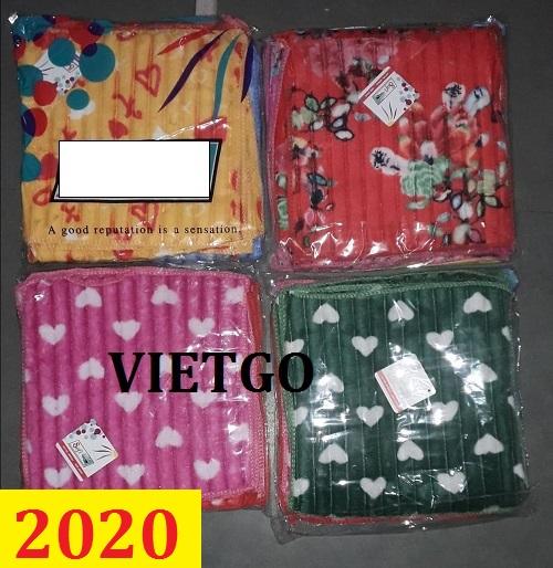 Cơ hội giao thương - Đơn hàng thường xuyên - Thương nhân đến từ Ấn Độ cần nhập khẩu khẩu khăn bông từ Việt Nam