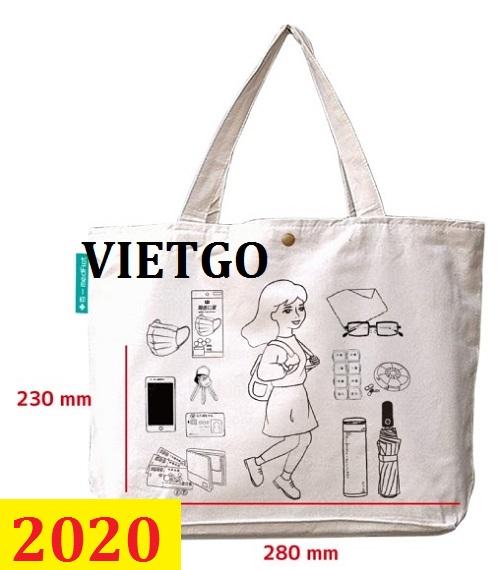 Cơ hội giao thương- Đơn hàng thường xuyên - Thương nhân đến từ Đài Loan cần nhập khẩu khẩu túi Canvas từ Việt Nam