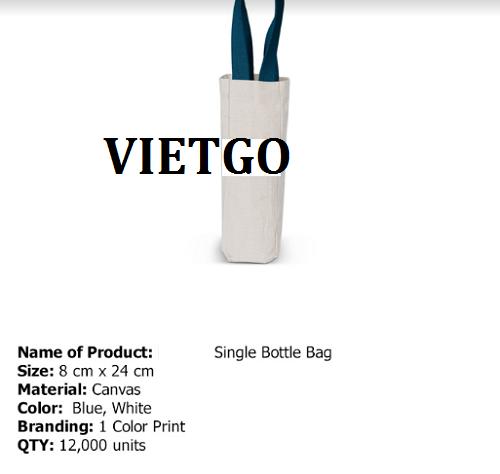 Cơ hội giao thương – Cơ hội cung cấp túi vải bạt - canvas cho một doanh nghiệp tại Australia