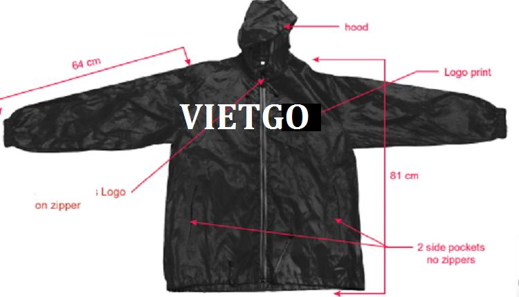 Cơ hội giao thương - Cơ hội cung cấp áo Jacket cho một doanh nghiệp tại Australia
