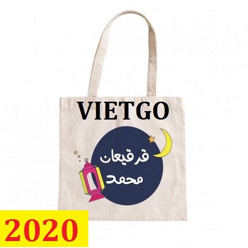 Cơ hội giao thương- Đơn hàng thường xuyên - Thương nhân đến từ Qatar cần nhập khẩu khẩu túi Canvas từ Việt Nam