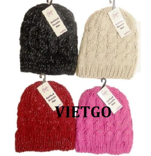 Cơ hội giao thương Đặc biệt – Đơn hàng cả năm -  Cơ hội xuất khẩu mũ len thời trang đến thị trường Bồ Đào Nha