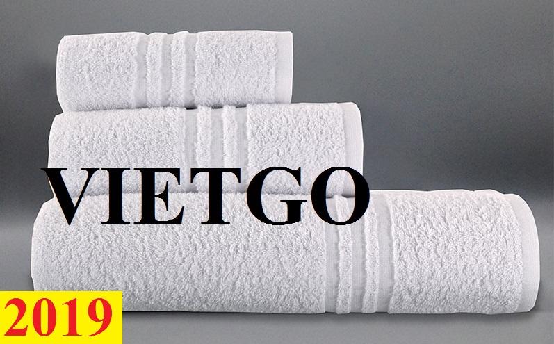 Thương nhân đến từ Ý cần nhập khẩu khẩu khăn bông từ Việt Nam