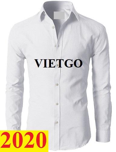 Cơ hội cung cấp áo sơ mi nam cho một doanh nghiệp tại Hàn Quốc