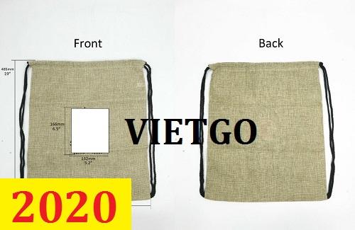 Cơ hội giao thương –Đơn hàng thường xuyên - Thương nhân đến từ Đài Loan cần nhập khẩu túi vải từ Việt Nam
