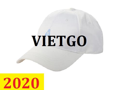 Cơ hội giao thương –Đơn hàng thường xuyên - Thương nhân đến từ Hồng Kông cần nhập khẩu mũ bóng chày từ Việt Nam