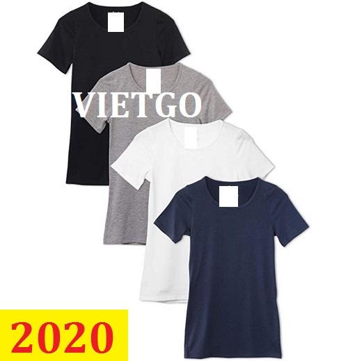Cơ hội giao thương –Đơn hàng thường xuyên - Thương nhân đến từ Hồng Kông cần nhập khẩu áo các loại từ Việt Nam