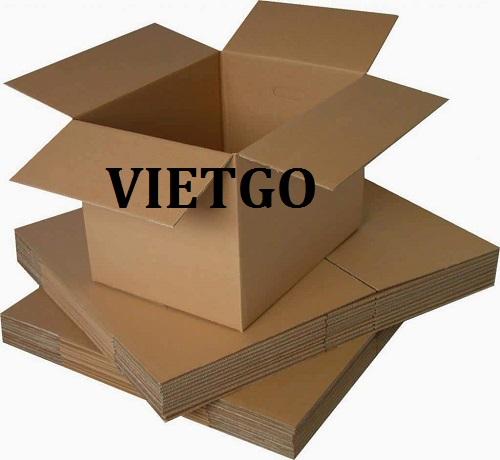 MS - Cơ hội giao thương: Cơ hội xuất khẩu Thùng carton  đến từ một vị khách hàng người Trung Quốc