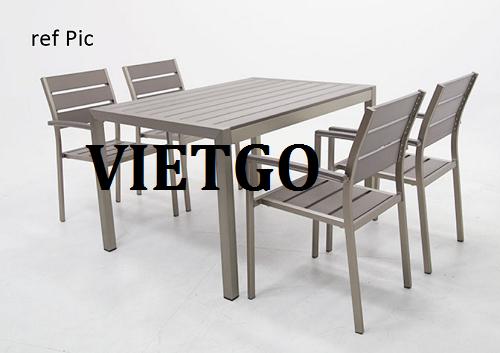 Cơ hội giao thương Đặc Biệt - Cơ hội xuất khẩu Bộ bàn ghế ngoài trời sang thị trường Hàn Quốc