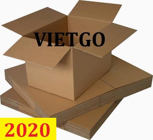 Cơ hội giao thương: Đơn hàng thường xuyên - Cơ hội xuất khẩu Thùng carton  đến từ một vị khách hàng người Pháp