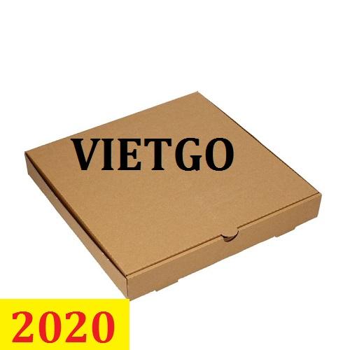Cơ hội giao thương: Đơn hàng thường xuyên: Cơ hội xuất khẩu Hộp giấy đựng pizza sang thị trường Brazil
