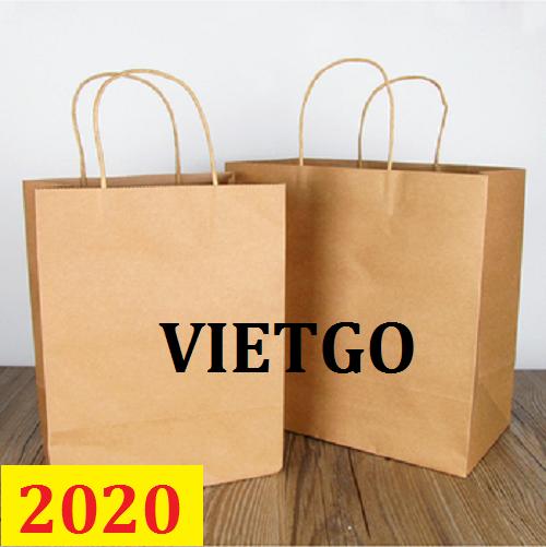 (MS) Cơ hội giao thương – Đơn hàng thường xuyên - Cơ hội xuất khẩu Túi giấy sang PHILIPINESE