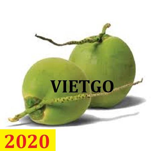 Cơ hội giao thương – Đơn hàng thường xuyên – Cơ hội xuất khẩu Dừa tươi sang thị trường Hà Lan.