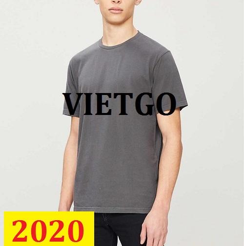 Cơ hội giao thương – Đơn hàng thường xuyên – Doanh nghiệp tại Ireland đang cần nhập khẩu các sản phẩm áo T- shirt nam.