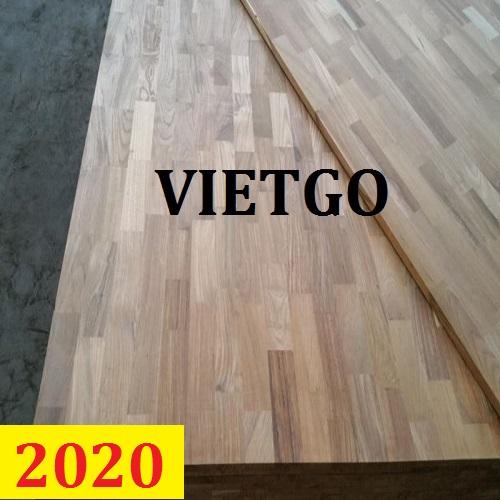 Cơ hội giao thương  - Đơn hàng thường xuyên - Cơ hội xuất khẩu Gỗ teak và gỗ cao su ghép thanh sang thị trường Brazil