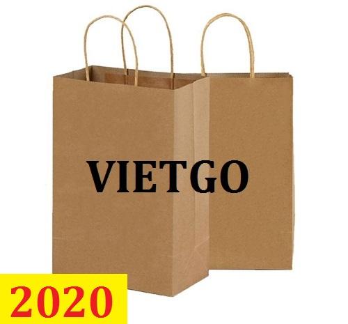Cơ hội giao thương  - Đơn hàng thường xuyên - Cơ hội xuất khẩu Túi giấy sang thị trường Thụy Điển