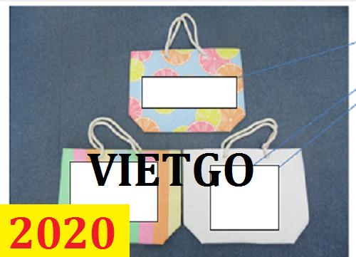 Cơ hội giao thương – Đơn hàng thường xuyên – Cơ hội cung cấp túi vải cho một doanh nghiệp tại Mỹ