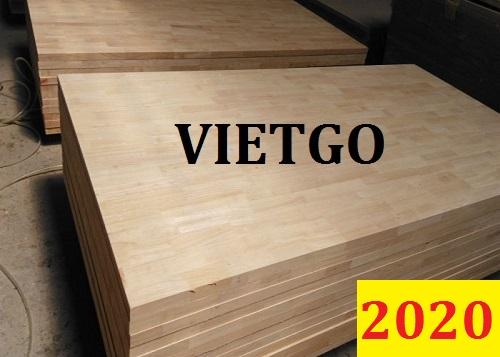 Cơ hội giao thương ĐẶC BIỆT – Đơn hàng thường xuyên - Cơ hội xuất khẩu gỗ ghép thanh cao su cho một vị khách hàng VIP đến từ Ấn Độ