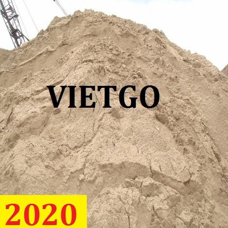 Cơ hội giao thương – Đơn hàng cả năm – Cơ hội xuất khẩu cát sông sang thị trường Trung Quốc