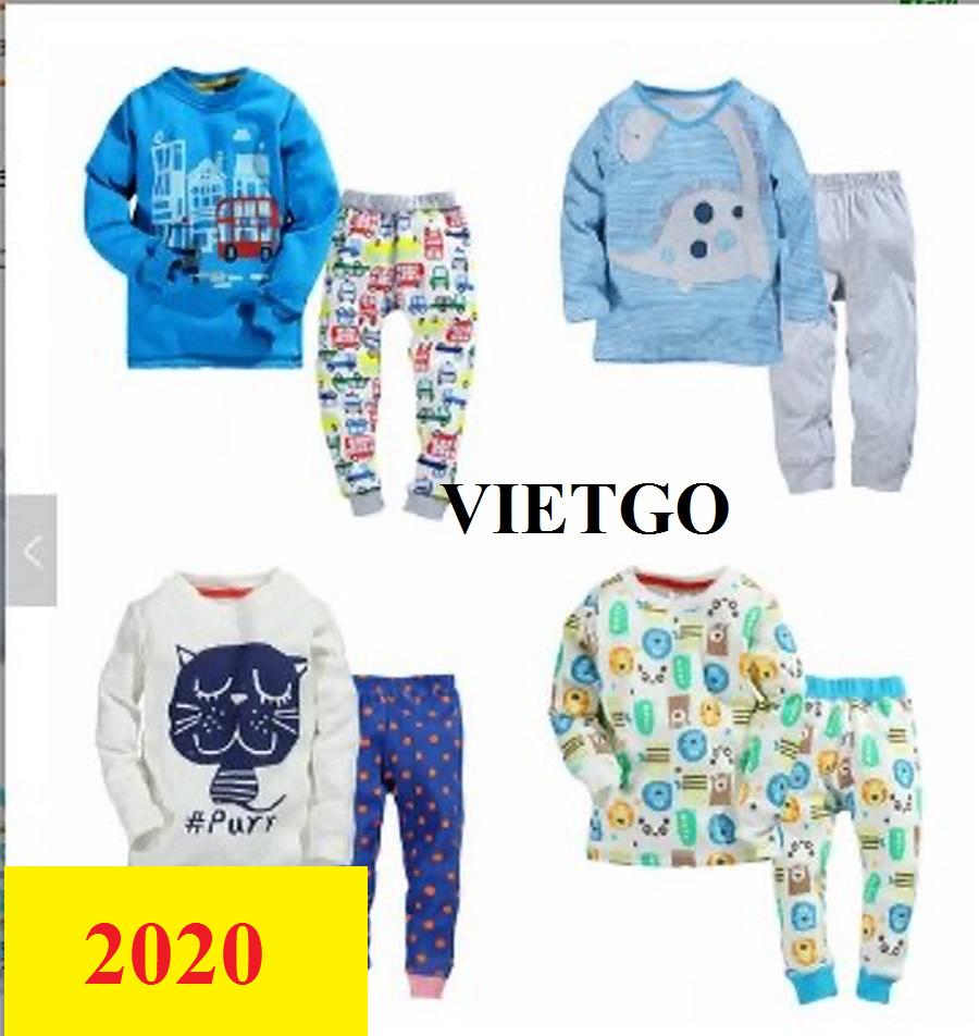 Cơ hội giao thương -  Đơn hàng thường xuyên - Cơ hội xuất khẩu quần áo trẻ em đến Peru