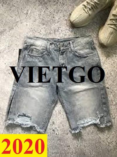 Cơ hội giao thương – Đơn hàng thường xuyên - Cơ hội cung cấp quần short Jean đến thị trường Ấn Độ