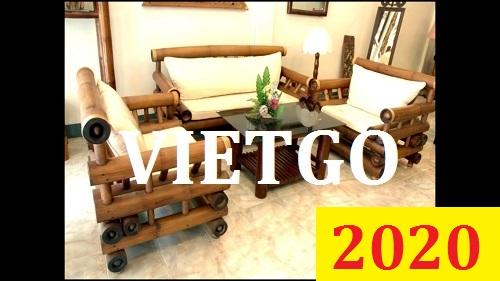 Cơ hội giao thương Đặc Biệt Cả Năm – Cơ hội xuất khẩu Bàn ghế tre cho vị khách hàng người Romania