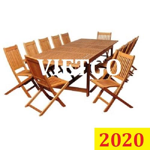 (Gấp) Cơ hội giao thương đặc biệt – Đơn hàng thường xuyên - Cơ hội xuất khẩu Bàn ghế gỗ ngoài trời sang Nam Phi