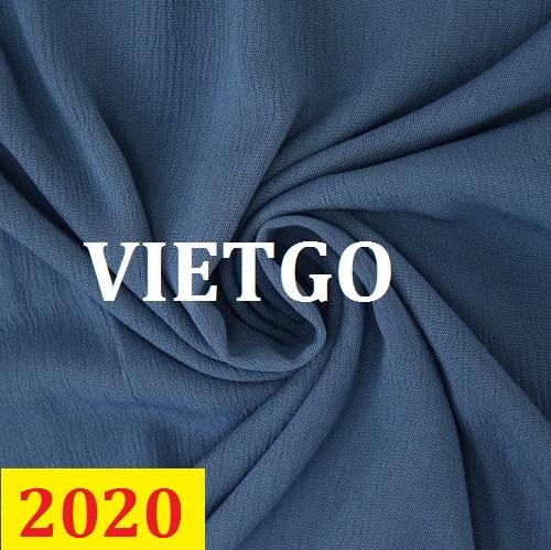 Cơ hội giao thương – Đơn hàng thường xuyên - Cơ hội cung cấp vải may mặc cho một doanh nghiệp tại Thổ Nhĩ Kỳ