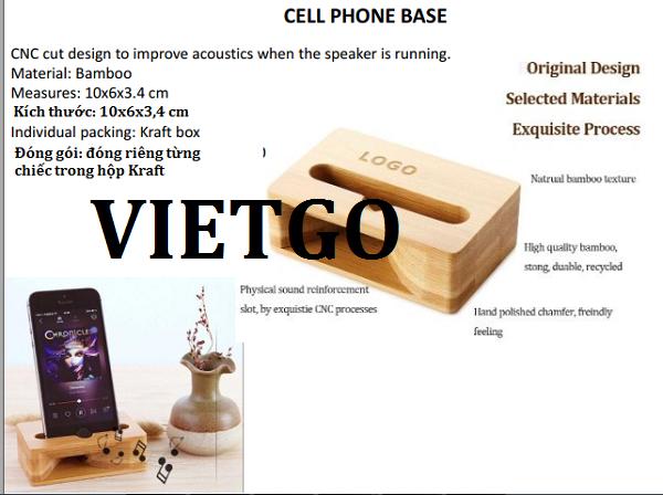 Cơ hội giao thương – Cơ hội xuất khẩu Dụng cụ kê điện thoại bằng tre sang thị trường Peru