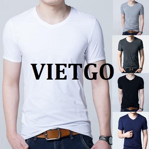 Cơ hội giao thương - Cơ hội cung cấp sản phẩm áo T – Shirt cho một doanh nghiệp tại Ấn Độ