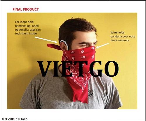 Cơ hội giao thương  - Đơn Hàng Thường Xuyên -  Cơ hội xuất khẩu Khẩu Trang Vải sang thị trường Mỹ