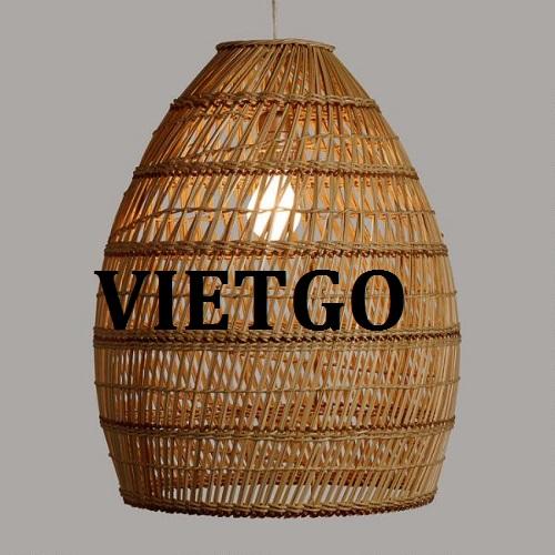Cơ hội giao thương – Đơn hàng thường xuyên – Vị khách Ấn Độ đang có mặt tại Hồ Chí Minh cần tìm nhà cung cấp Đèn mây tre đan