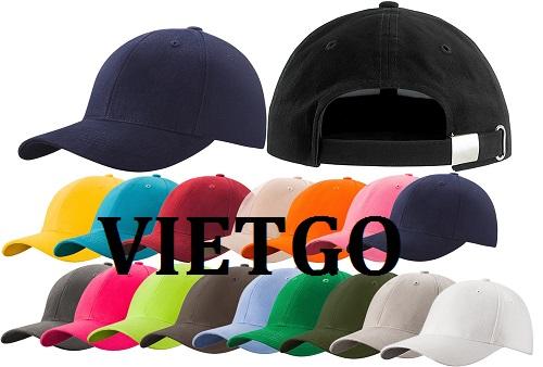 Cơ hội giao thương -  Đơn hàng thường xuyên - Cơ hội xuất khẩu mũ thời trang đến thị trường Anh