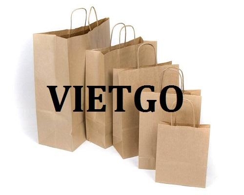 Cơ hội giao thương Đặc biệt – Đơn hàng hàng tháng - Cơ hội xuất khẩu Túi giấy sang thị trường Ấn Độ