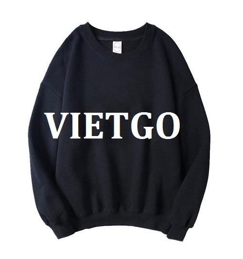Cơ hội giao thương – Đơn hàng hàng tháng - Cơ hội cung cấp sản phẩm Áo nỉ chui đầu (sweater) cho một doanh nghiệp tại Anh