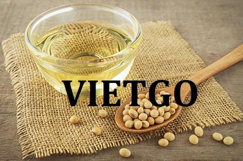 Cơ hội giao thương – Đơn hàng Hàng Tháng  - Cơ hội xuất khẩu Dầu Đậu nành cho vị khách hàng tiềm năng của VietGo sang thị trường Ai Cập.