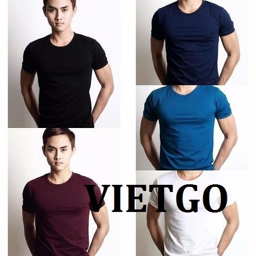 Cơ hội giao thương – Đơn hàng hàng tháng - Cơ hội cung cấp sản phẩm áo T – Shirt cho một doanh nghiệp tại Malaysia