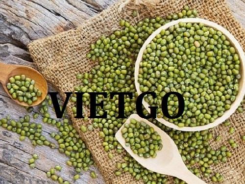 Cơ hội giao thương – Đơn hàng Hàng tuần - Cơ hội xuất khẩu Đậu xanh đến thị trường UAE.