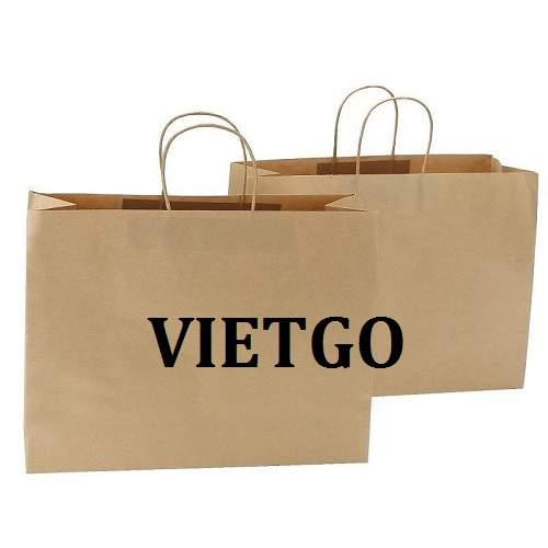 Cơ hội giao thương – Đơn hàng Hàng Tháng – Cơ hội xuất khẩu Túi giấy vô cùng tiềm năng sang thị trường Mỹ.